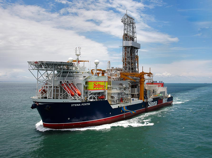 Drilling vessel at sea