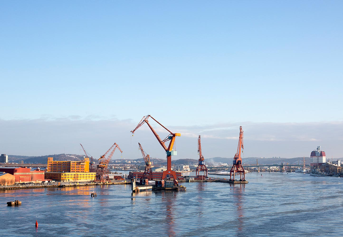 Cranes at Gothenburg harbour